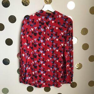 Talbots Tops - Talbots Heart Print Button Up Shirt